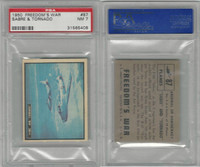1950 Topps, Freedoms War, #87 Sabre And Tornado Airplanes, PSA 7 NM