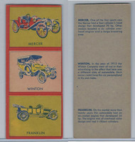 W670-1 Flip Cards, Collectibles Automobiles, 1950's, 3 Panel, Mercer, Winton