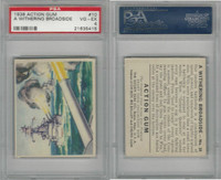 R1 Goudey, Action Gum, 1938, #10 Withering Broadside, PSA 4 VGEX
