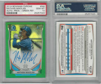 2014 Bowman Chrome Baseball, #NM N Mikolas AUTO REF, Yankees, PSA 10 Gem