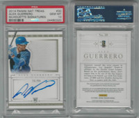 2014 Panini National Baseball, #30 A Guerrero AUTO RC, Dodgers, PSA 10 Gem
