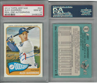 2014 Topps Heritage Baseball, #AG A Guerrero AUTO RC Dodgers, PSA 10 Gem