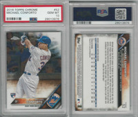 2016 Topps Chrome Baseball, #52 Michael Conforto RC, Mets, PSA 10 Gem