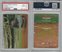 2016 Topps Chrome Baseball, #PC9 Ichiro, Marlins, PSA 10 Gem