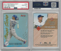 2017 Bowman Best Baseball, #CB Cody Bellinger RC, Dodgers, PSA 10 Gem
