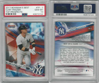 2017 Bowman Best Baseball, #TP7 Clint Frazier RC, Yankees, PSA 10 Gem