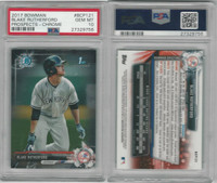 2017 Bowman Chrome Baseball, #BCP121 Rutherford RC, Yankees, PSA 10 Gem