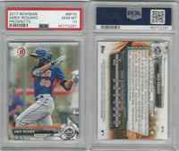 2017 Bowman Prospects Baseball, #BP76 Amed Rosario RC, Mets, PSA 10 Gem