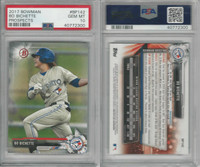 2017 Bowman Prospects Baseball, #BP142 Bo Bichette RC, Jays, PSA 10 Gem