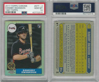 2017 Topps Chrome Baseball, #87T-2 Dansby Swanson RC, Braves, PSA 10 Gem