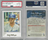 2017 Topps Gallery Baseball, #143 Cody Bellinger RC, Dodgers, PSA 10 Gem