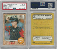 2017 Topps Heritage Baseball, #128 Chance Sisco RC, Norfolk, PSA 10 Gem