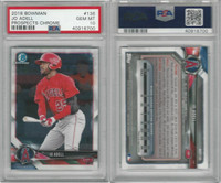 2018 Bowman Chrome Baseball, #136 Jo Adell RC, Angels, PSA 10 Gem