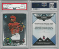 2018 Bowman Chrome Baseball, #BTP39 Jo Adell RC, Angels, PSA 10 Gem