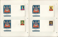 Barbuda Stamp Collection 1970-71 FDC & Maxim Cards, #43-79, 25 Pages