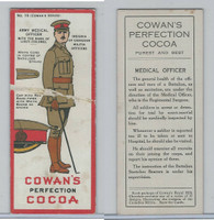 V15 Cowan, Insignia Canadian Militia Officers, 1920, #15 Army Medical Officer