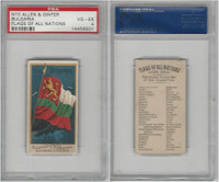 N10 Allen & Ginter, Flags of all Nations, 1890, Bulgaria, PSA 4 VGEX