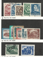 Poland, Postage Stamp, #582-586, 608-613, 633-634 Used, 1953-54