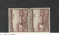South West Africa, Postage Stamp, #110 Mint NH Pair (Light Crease), 1937