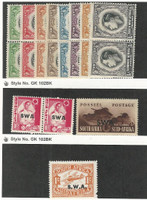 South West Africa, Postage Stamp, #125-132, 136, 142, C4 Mint Hinged, 1930-41