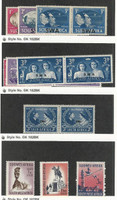 South West Africa, Postage Stamp, #153-159, 267-8, 271 Mint LH, 1945-61