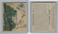 R1 Goudey, Action Gum, 1938, #1 Tanks Attack