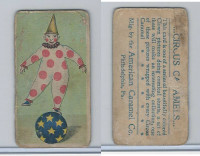 E43 American Caramel, Circus, 1911, Clown Balancing On Ball