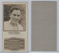 E160-1 Ghirardelli's, Motion Picture Stars, 1920's, Thomas Meighan