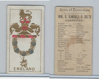 N181 Kimball, Arms of Dominions, 1888, England