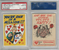 1960 Topps, Funny Valentines, #17A You're One in A Million!!!, PSA 9 Mint