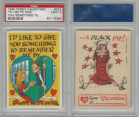 1960 Topps, Funny Valentines, #22A I'd Like to Give You Something, PSA 9 Mint