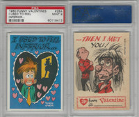 1960 Topps, Funny Valentines, #28A I Used to Feel Inferior, PSA 9 Mint