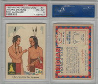 1959 Fleer, Indian Trading, #11 Indians Speaking Sign Language, PSA 8 NMMT