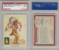 1959 Fleer, Indian Trading, #12 Dancing Sioux, PSA 7 NM
