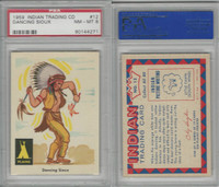 1959 Fleer, Indian Trading, #12 Dancing Sioux, PSA 8 NMMT