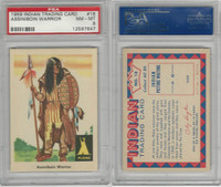 1959 Fleer, Indian Trading, #18 Assiniboin Warrior, PSA 8 NMMT