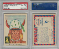 1959 Fleer, Indian Trading, #19 Buffalo Horn Head Dress, PSA 8 NMMT