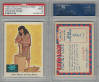 1959 Fleer, Indian Trading, #26 Indian Woman Grinding Maize, PSA 9 Mint