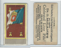 H628 Dr. McLane's Liver Pills, National Flags, 1890's, Portugal