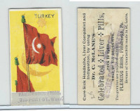 H628 Dr. McLane's Liver Pills, National Flags, 1890's, Turkey