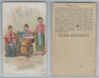 H639 Singer Sewing, Costumes of all Nations, 1892, Burmah
