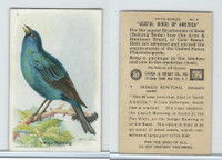 J9-1, Church & Dwight, Useful Birds America 5th Ser., 1925, #5 Indigo Bunting