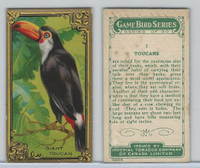 C14 Imperial Tobacco, Game Bird Series, 1910, #1 Toucans