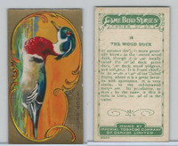 C14 Imperial Tobacco, Game Bird Series, 1910, #18 Wood Duck