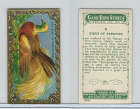 C14 Imperial Tobacco, Game Bird Series, 1910, #27 Birds of Paradise