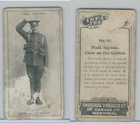 C18 Imperial Tobacco, Infantry Training, 1910, #45 Field Signals