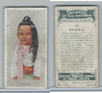 C6 Imperial Tobacco, Children Of All Nations, 1924, #10 Burma
