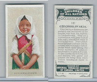 C6 Imperial Tobacco, Children Of All Nations, 1924, #12 Czechoslovakia
