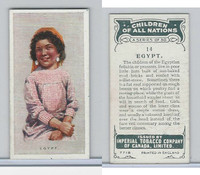 C6 Imperial Tobacco, Children Of All Nations, 1924, #14 Egypt