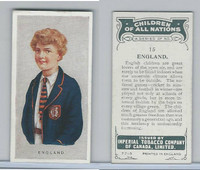 C6 Imperial Tobacco, Children Of All Nations, 1924, #15 England